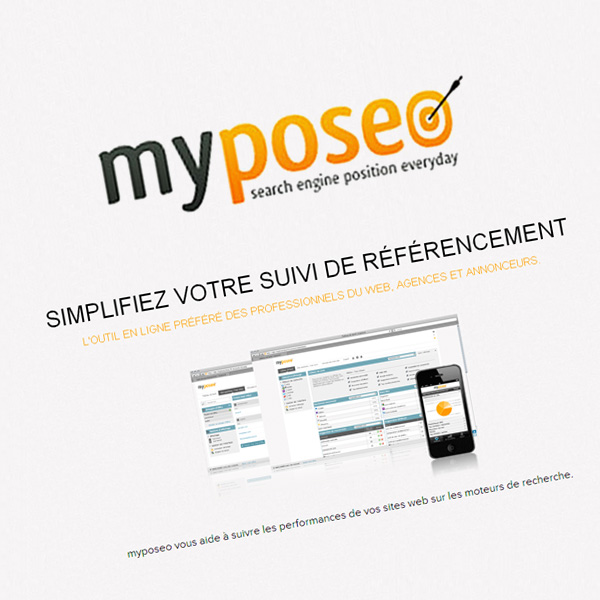Myposeo : Outil de suivi