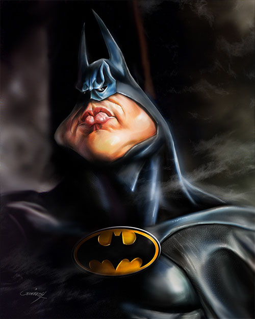 Caricature de Batman