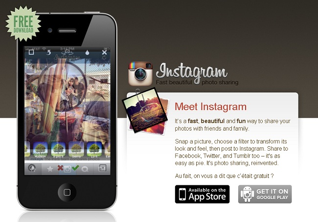 Application Instagram rachetée par Facebook