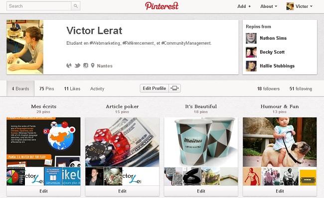 Pinterest Victor Lerat