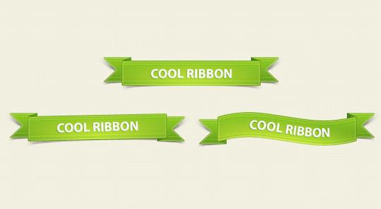 Rubans vert design