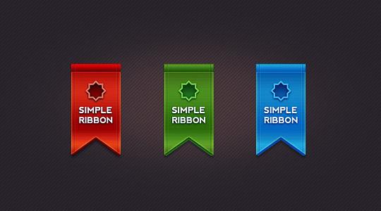 Des rubans (PSD) pour le design de vos sites