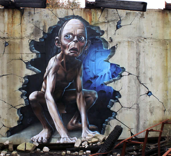 street art seigneur des anneaux
