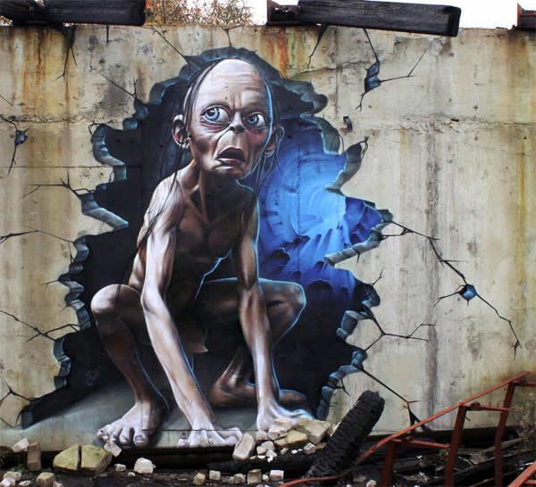 Street art du seigneur des anneaux