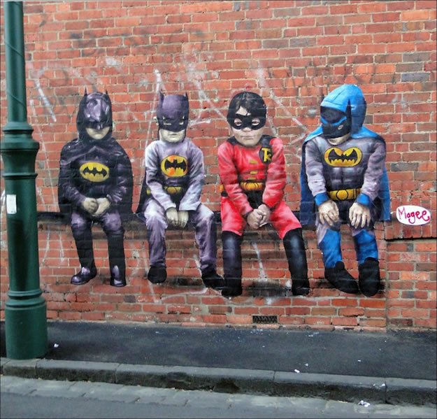 street art de batman