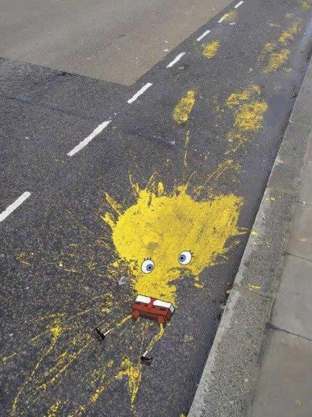 bob l'éponge en street art