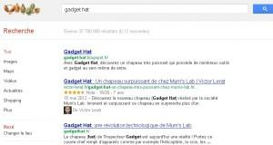 résultats moteur de recherche