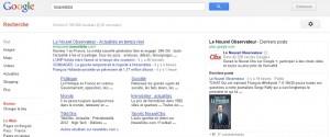 Google+ et ses résultats universelles