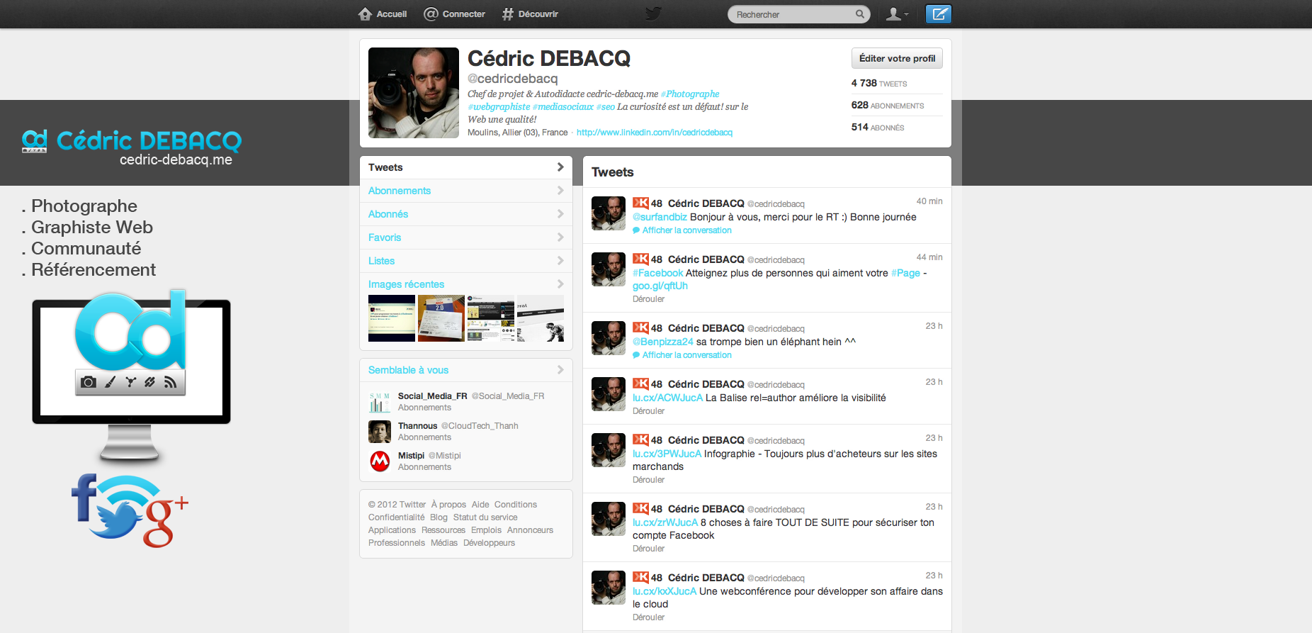 Cédric Debacq - Twitter
