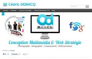 Cédric Débacq : site web