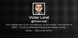Compte Twitter de Victor Lerat