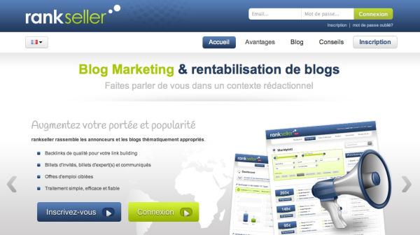 Monétisez votre blog avec Rankseller