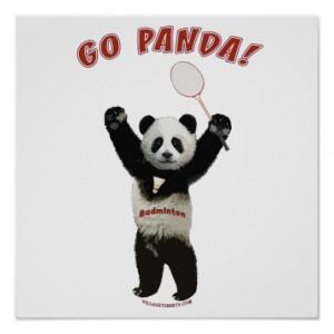 Un panda champion de badminton