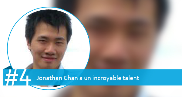 Jonathan Chan a un incroyable talent