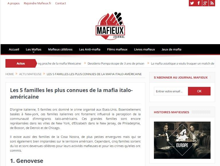 Une passion pour la mafia et un blog est né