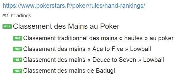 Balisage sémantique sur Pokerstars