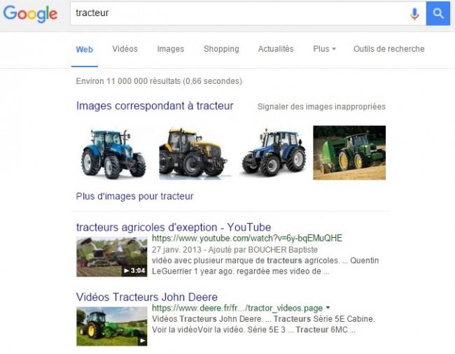 Requête tracteur en video