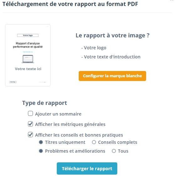 Télécharger un rapport sur Dareboost